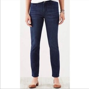 J Jill Denim Smooth Fit Slim Ankle Dark Wash Jean
